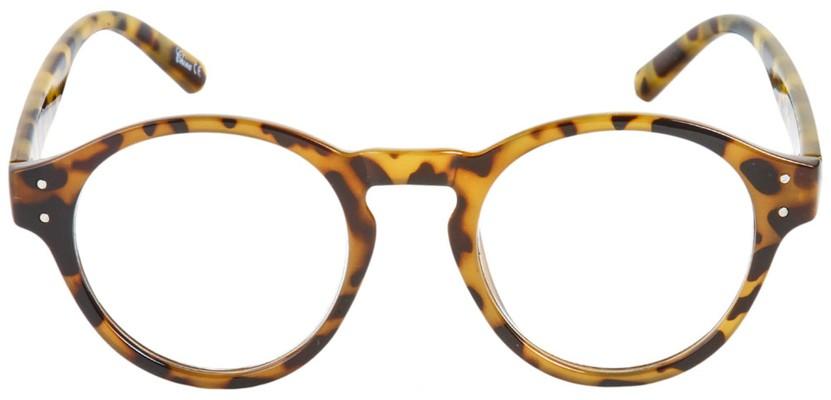 Half Frame Tortoise Shell Reading Glasses : The Archie Round Plastic Reading Glasses
